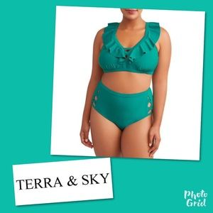 Nwt Terra & Sky Bikini swim bathing suit 2X